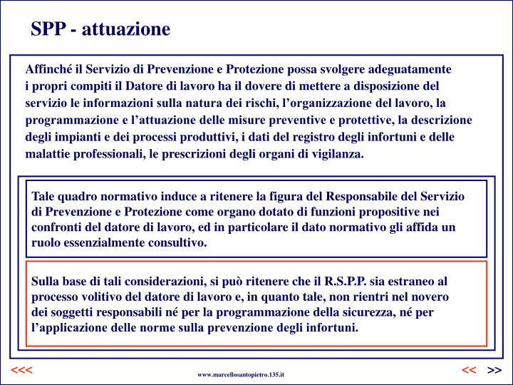 SPP - attuazione