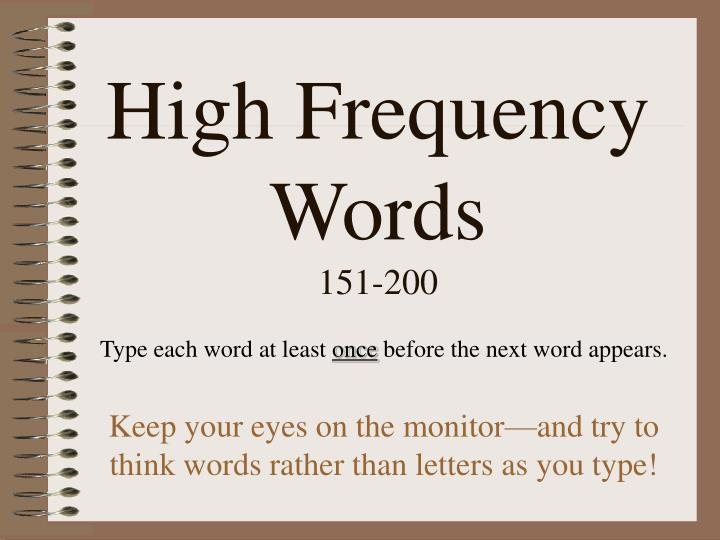 high frequency words 151 200 n.