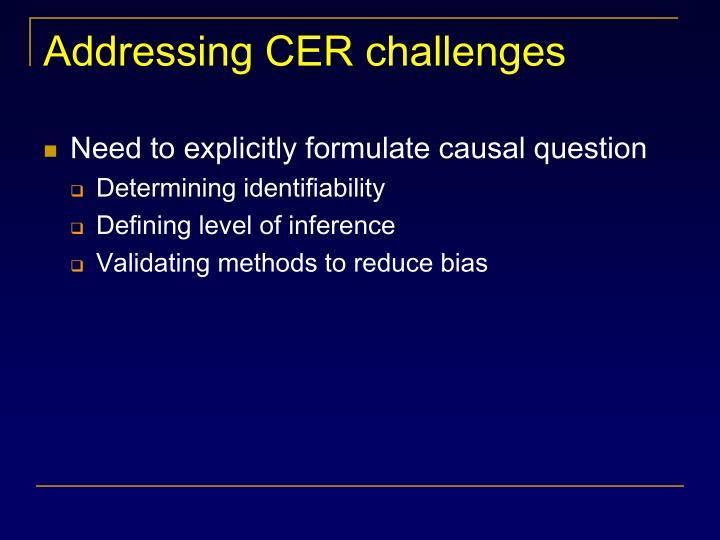 Addressing CER challenges