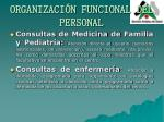 organizaci n funcional del personal