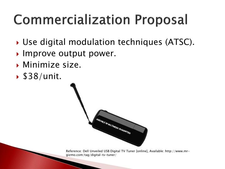Commercialization Proposal