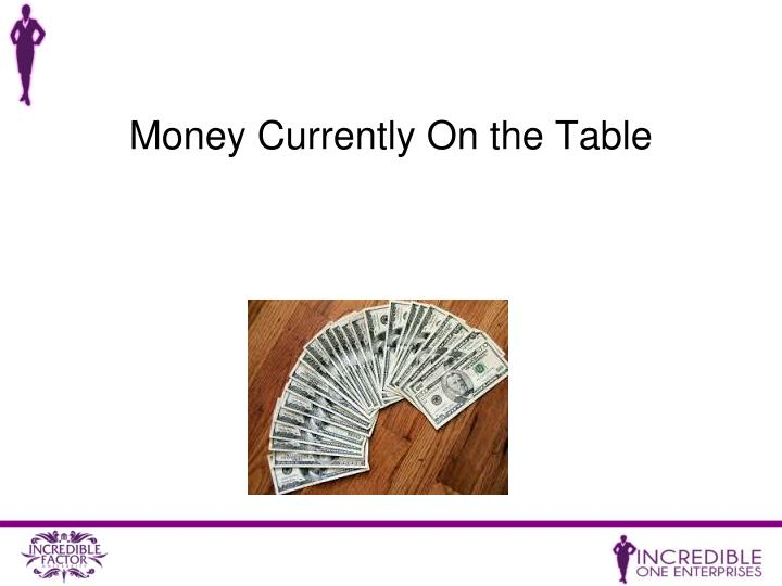 Money Currently On the Table