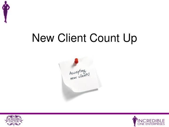 New Client Count Up