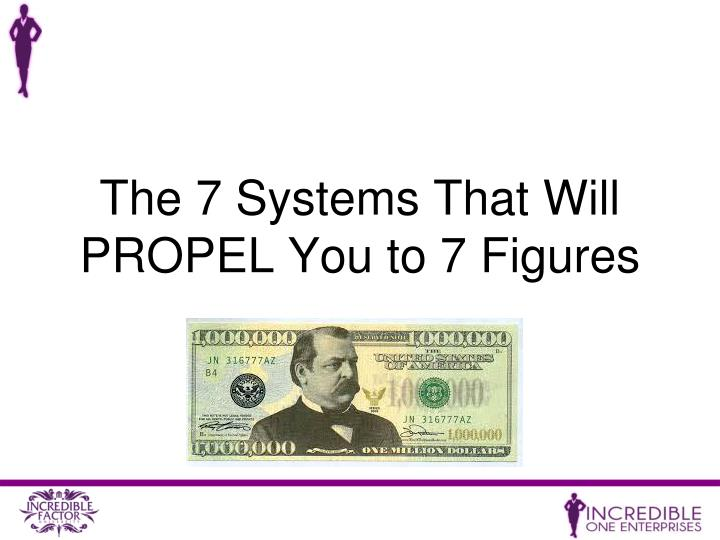 The 7 Systems That Will PROPEL You to 7 Figures