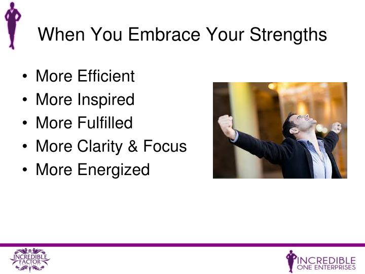 When You Embrace Your Strengths