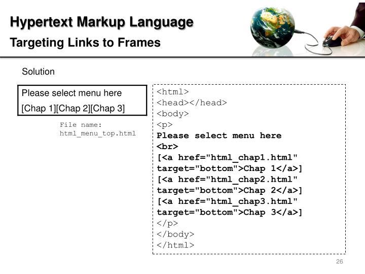 Targeting Links to Frames