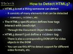 how to detect html5