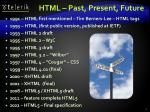 html past present future