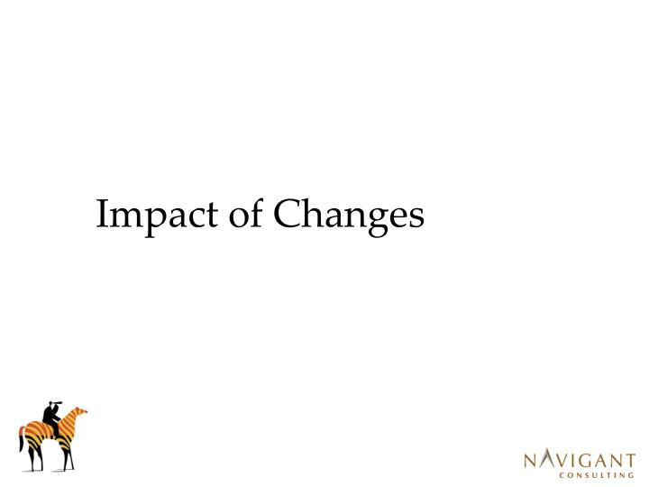 Impact of Changes
