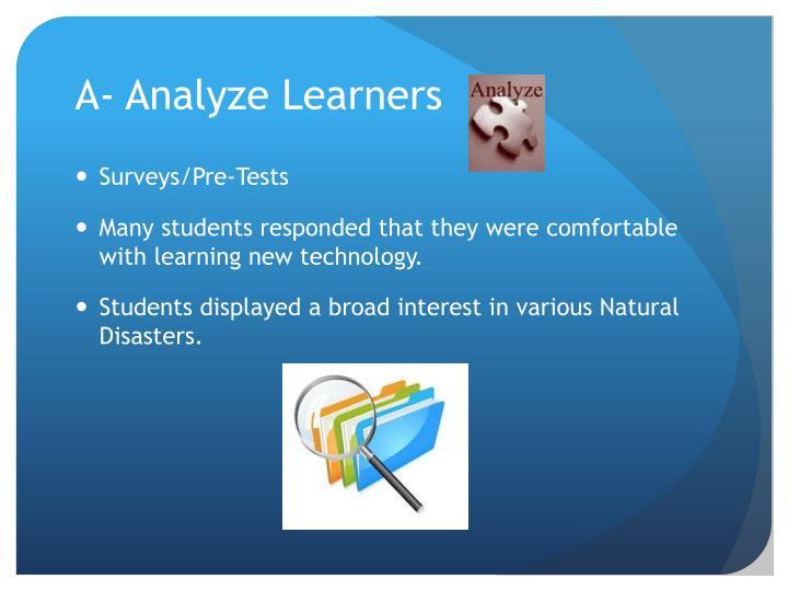 A- Analyze Learners
