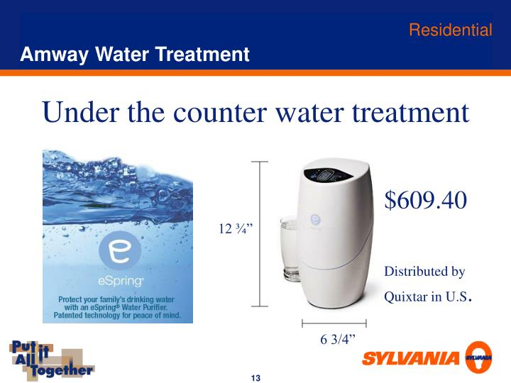 Amway Water Treatment