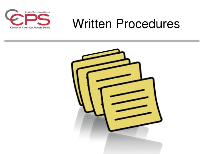 Written Procedures