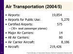 air transportation 2004 5