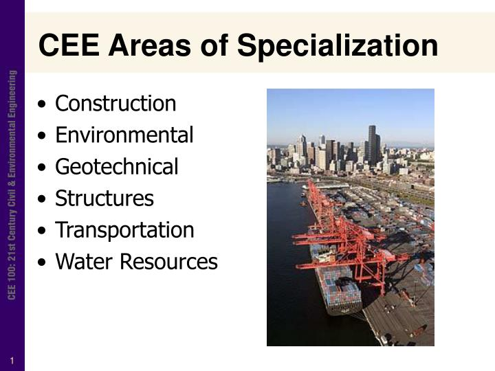 cee areas of specialization n.