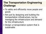 the transportation engineering challenge
