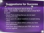 suggestions for success