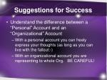 suggestions for success1