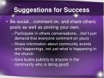 suggestions for success2