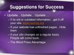 suggestions for success3