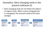 gram tica stem changing verbs in the present indicative i