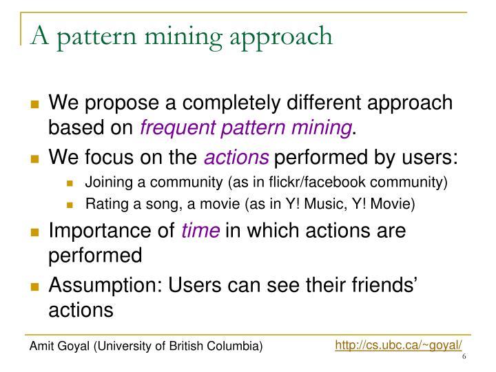 A pattern mining approach