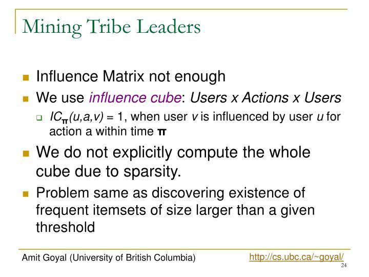 Mining Tribe Leaders