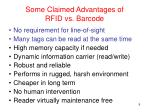 some claimed advantages of rfid vs barcode