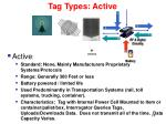 tag types active