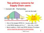 two primary concerns for supply chain users1