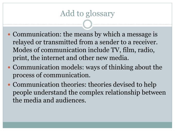 Add to glossary