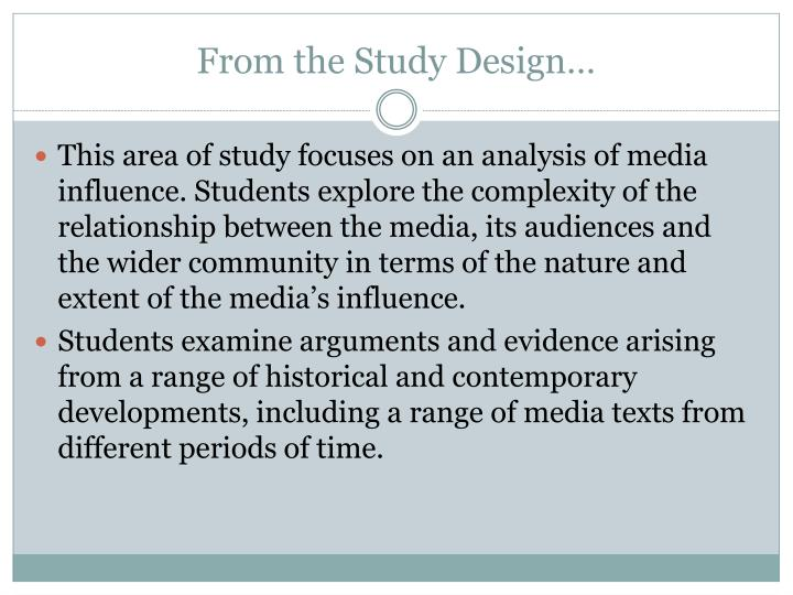 From the Study Design…