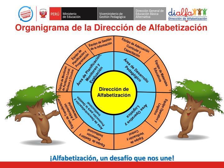 Organigrama de la Dirección de Alfabetización