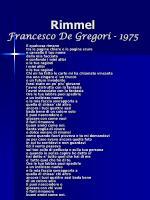 rimmel francesco de gregori 1975