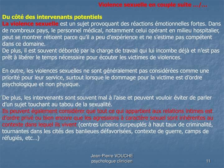 Violence sexuelle en couple suite …/…