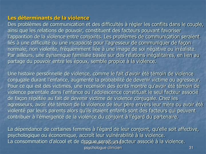 Les déterminants de la violence
