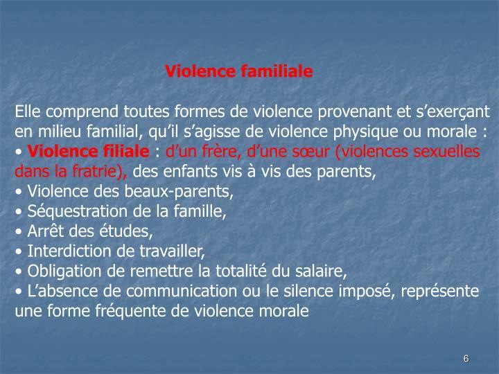 Violence familiale