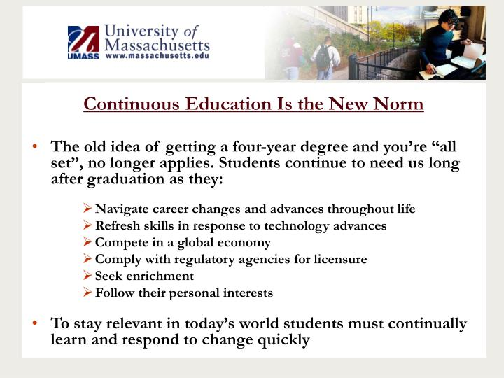 Continuous Education Is the New Norm