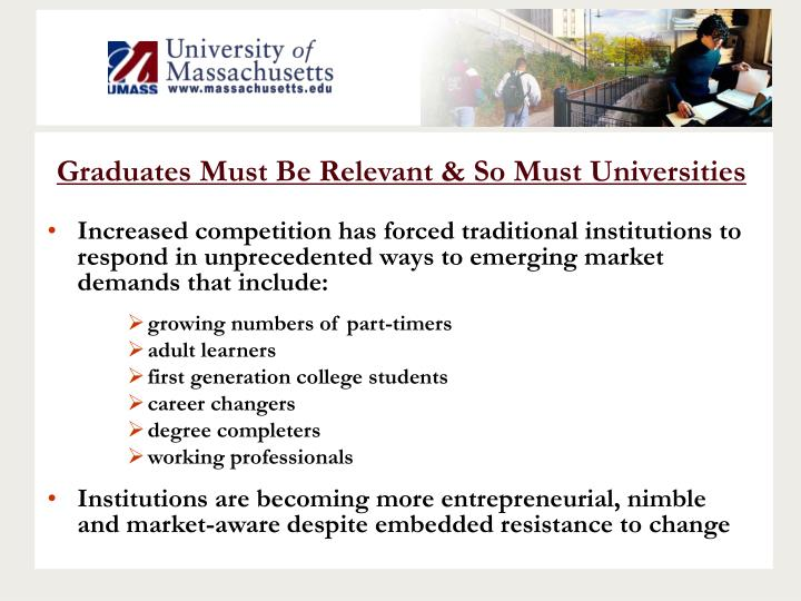 Graduates Must Be Relevant & So Must Universities