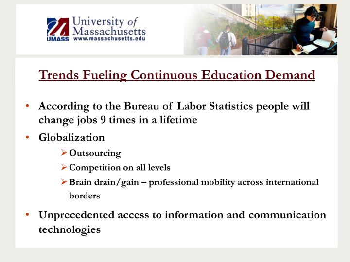 Trends Fueling Continuous Education Demand