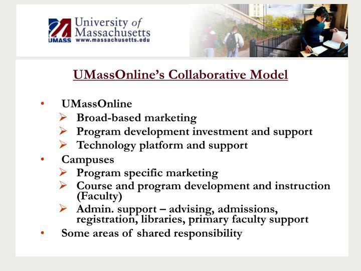 UMassOnline's Collaborative Model