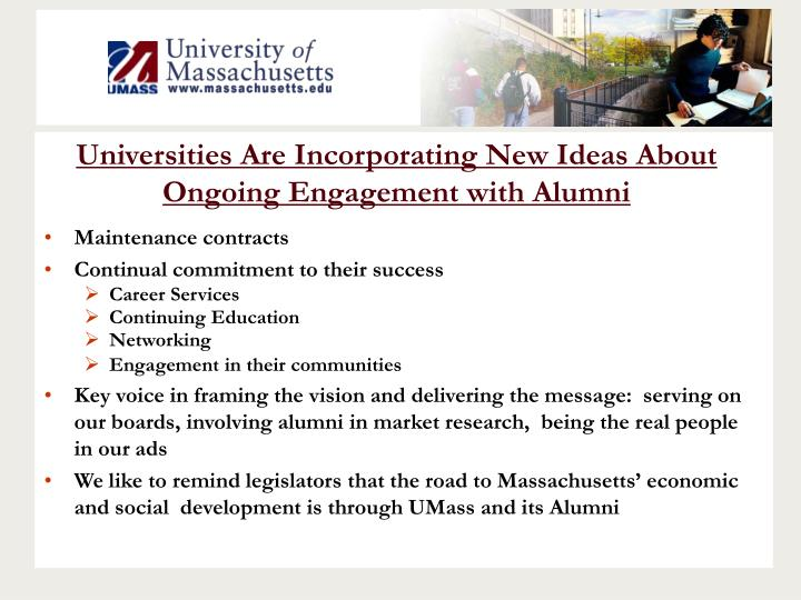 Universities Are Incorporating New Ideas About Ongoing Engagement with Alumni