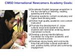 cmsd international newcomers academy goals
