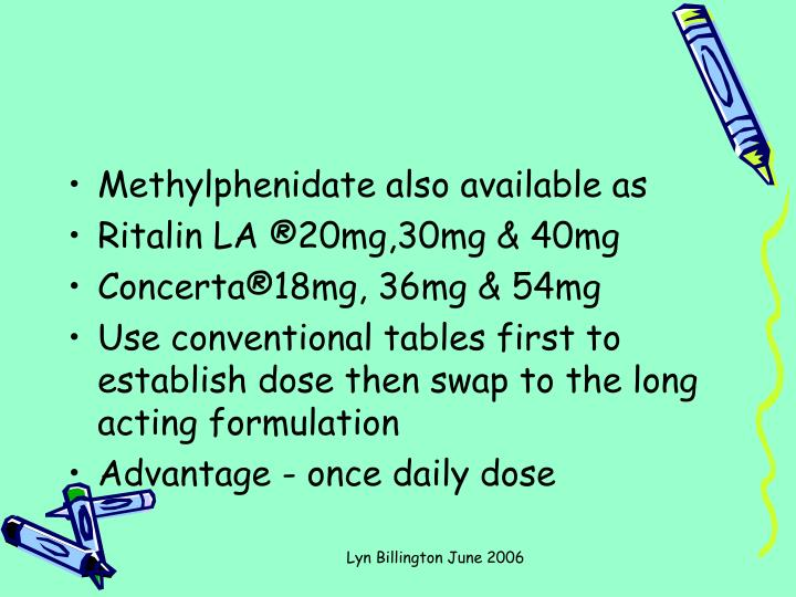 Methylphenidate also available as