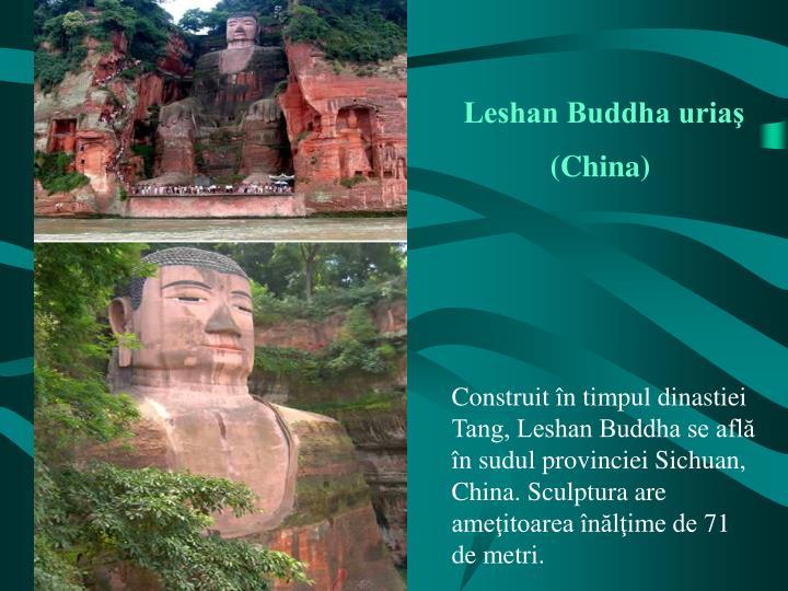 Leshan Buddha uriaş (China)
