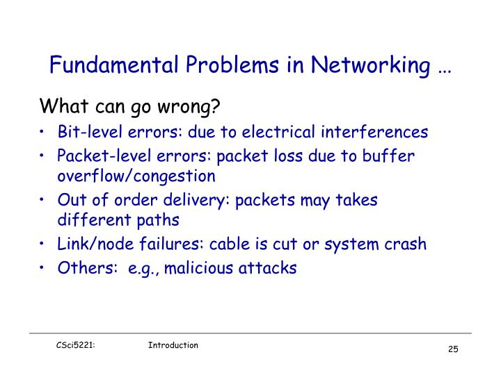 Fundamental Problems in Networking …