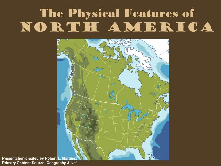 the physical features of north america n.
