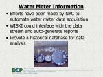 water meter information