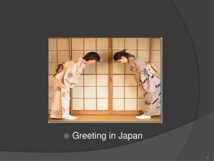 Greeting in Japan