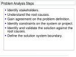 problem analysis steps