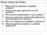 review analyze the problem